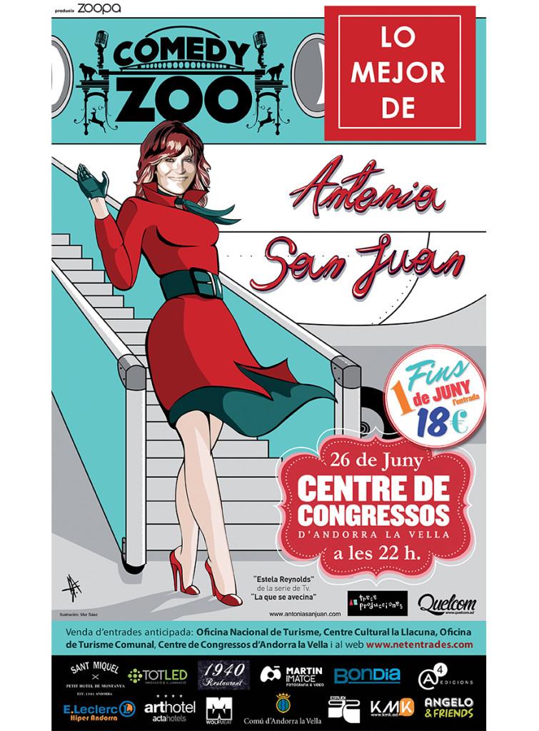 Antonia San Juan llega a Andorra la Vella (Centro de Congresos)